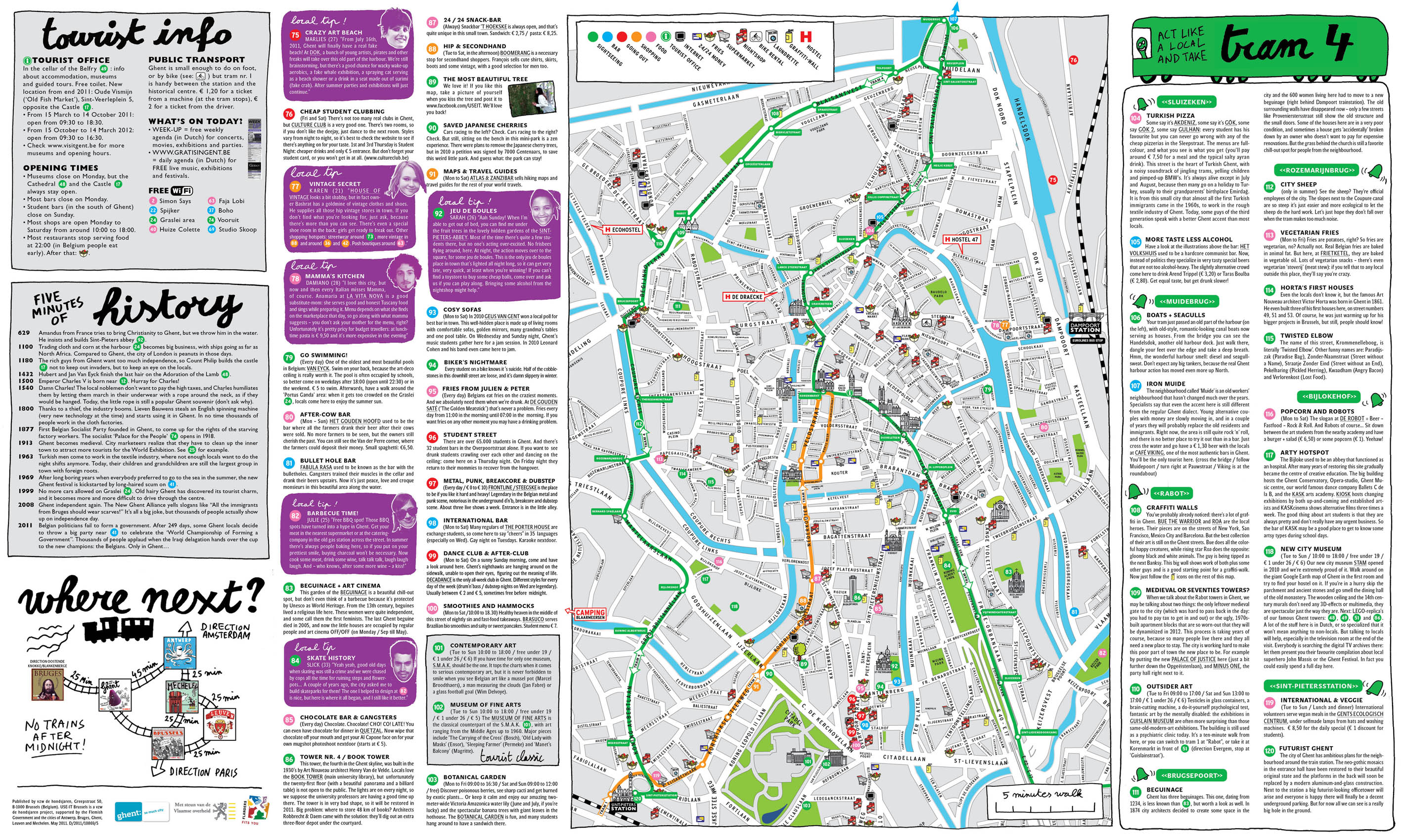 MAP Ghent USEIT TOURIST INFO FOR YOUNG PEOPLE